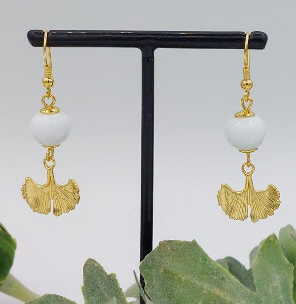Boucles d'oreilles plaqué or et Murano
